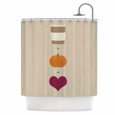Pumpkin Spice Latte Shower Curtain