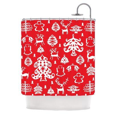 Warm Winter Red Shower Curtain