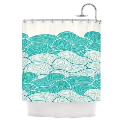 The Stormy Seas Shower Curtain