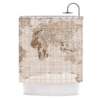 Emerald World Shower Curtain
