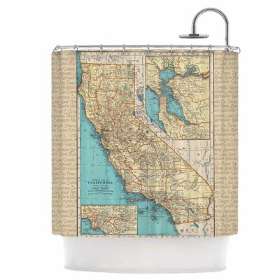 So Cal Surf Map Shower Curtain