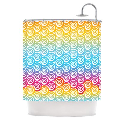 Ethnic Spirals Shower Curtain