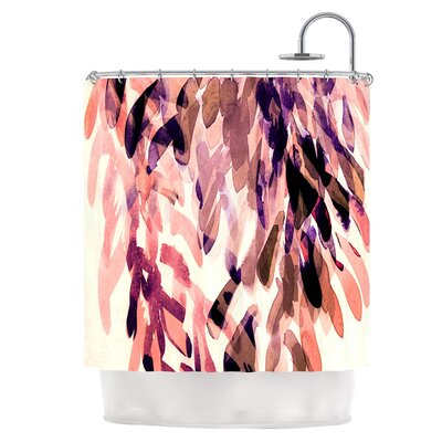 Abstract Leaves I Shower Curtain