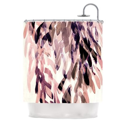 Abstract Leaves II Shower Curtain