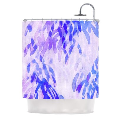 Abstract Leaves III Shower Curtain
