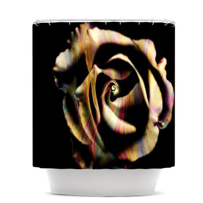 Rose Swirl Shower Curtain