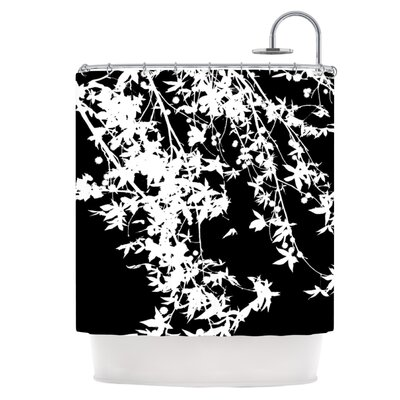 White on Black Shower Curtain