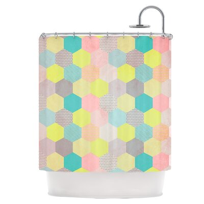 Pastel Hexagon Shower Curtain