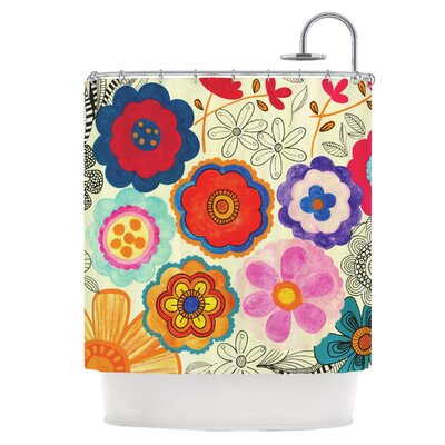 Charming Floral Shower Curtain