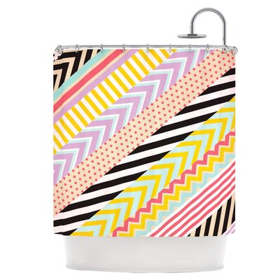 Diagonal Tape Shower Curtain
