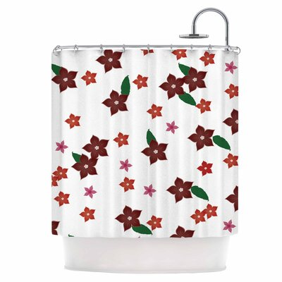 Holiday Floral Shower Curtain