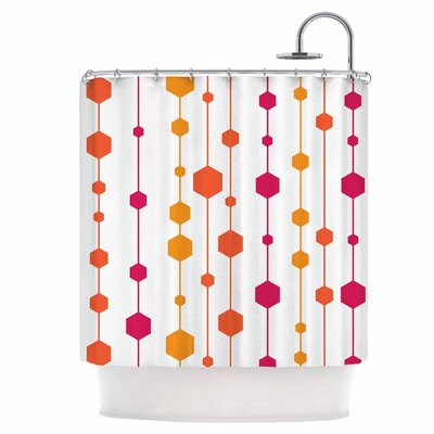 Warm Dots Shower Curtain