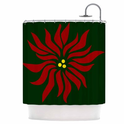Pointsettia Shower Curtain