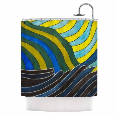 Desert Waves Shower Curtain