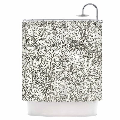 Zentangle Garden Shower Curtain