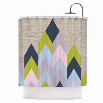 Woodgrain Shower Curtain