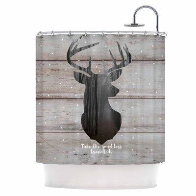The Road - Woodgrain Shower Curtain