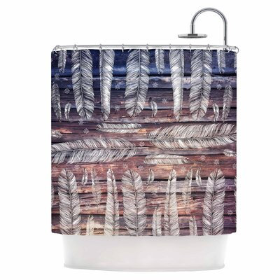 Snowflakes and Feathers Shower Curtain