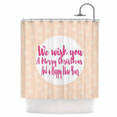 Merry Chistmas and Happy New Year Shower Curtain