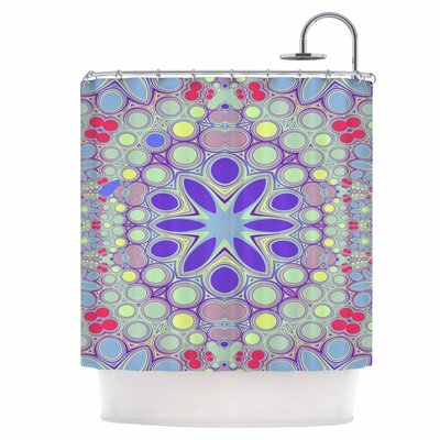 Hippy Flowers Shower Curtain