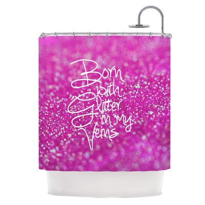 Born with Glitter Shower Curtain