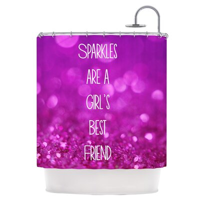 Sparkles are a Girls Best Friend Shower Curtain