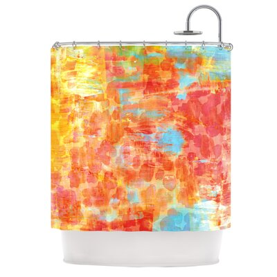 Pastel Jungle Shower Curtain
