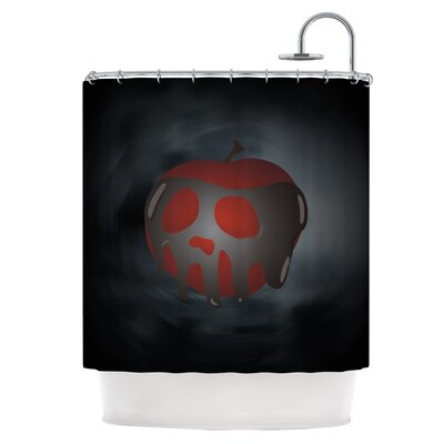 One Last Bite Poison Apple Shower Curtain