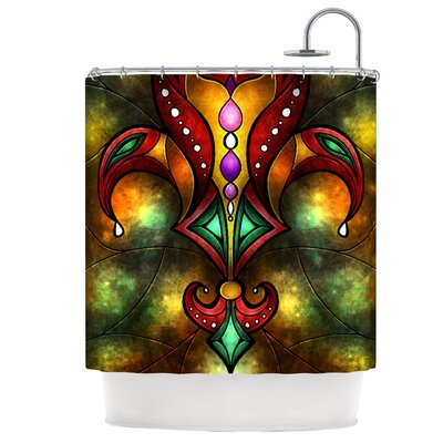 Red Fleur De Lis Shower Curtain