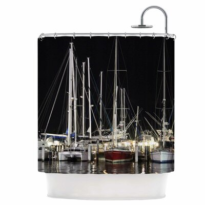 Dinner Key Marina Shower Curtain