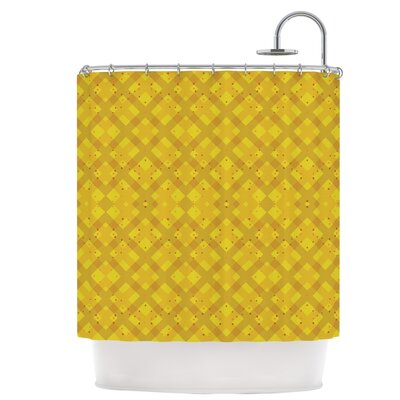 Dotted Plaid Shower Curtain