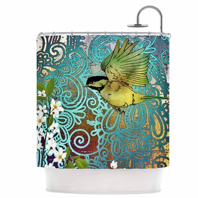 Bird and Blossom Shower Curtain