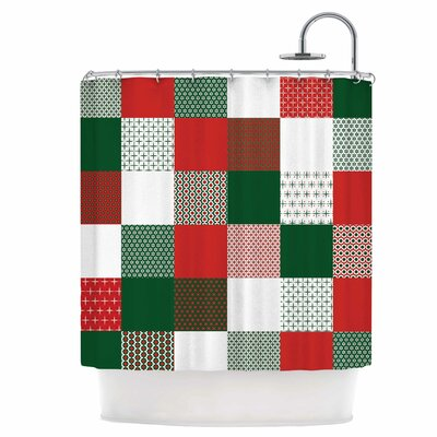 Holiday Patchwork Shower Curtain