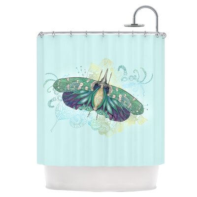 Blue Deco Shower Curtain