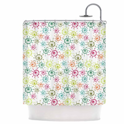 Mod Flower Burst Shower Curtain