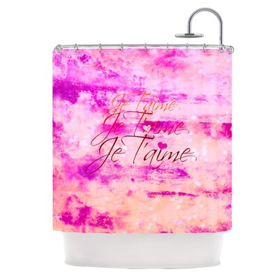 Je Taime Shower Curtain