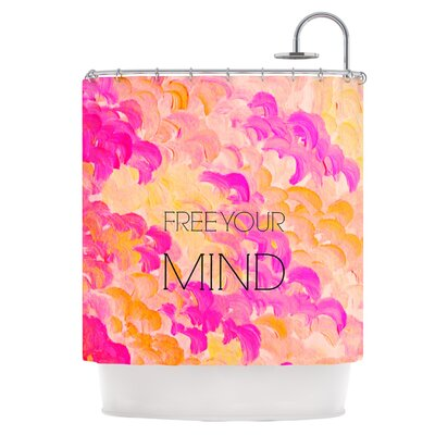 Free Your Mind Pink Shower Curtain