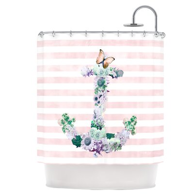 Floral Anchor Shower Curtain