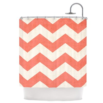 Vintage Coral Shower Curtain