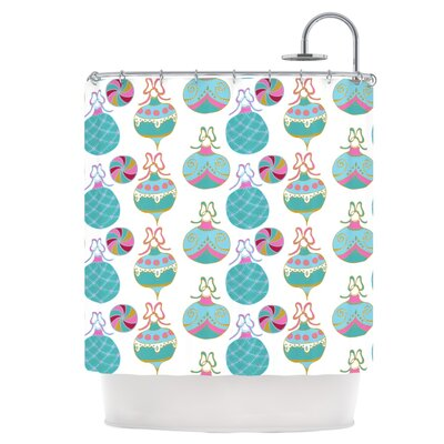 Vintage Baubles Shower Curtain