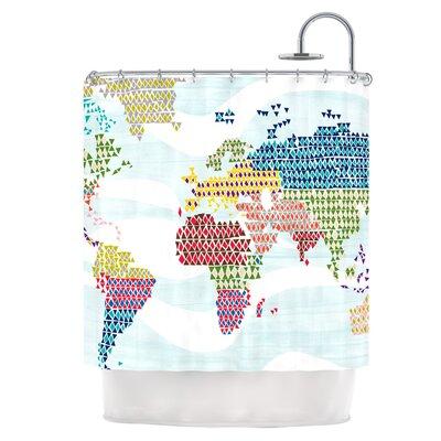 Geo Map Shower Curtain