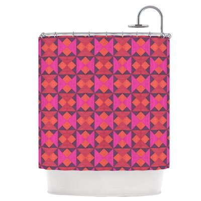 A Quilt Pattern Shower Curtain