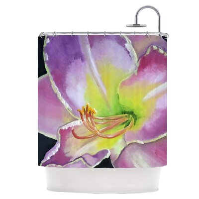 Violet and Lemon Shower Curtain