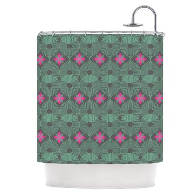 Chevron and Dots Shower Curtain