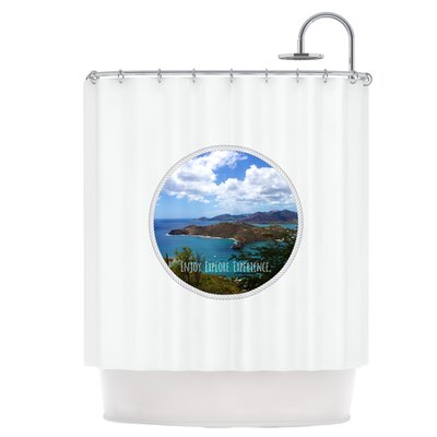 Enjoy Explore Experience Shower Curtain