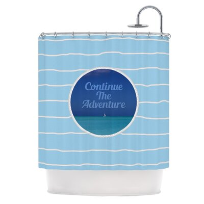 Continue The Adventure Shower Curtain