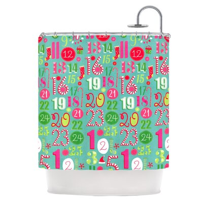 Merry Countdown Shower Curtain