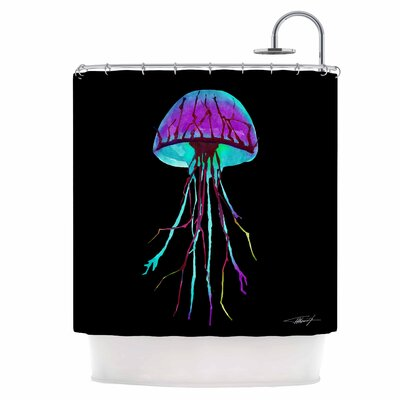 Night of Jellyfish Shower Curtain