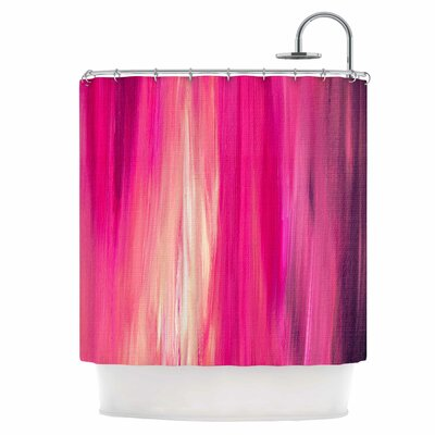 Irradiated Fuchsia Shower Curtain