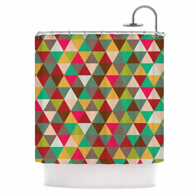 Triangle Spectrum Shower Curtain